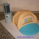 hornická helma s loučí