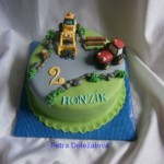 kulatý s bagrem a traktorem