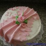 kulatý v růžové