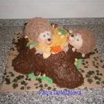 pařez s ježky