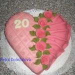 srdce růžové