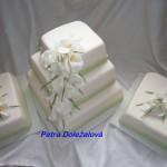 Svatební čtverec s kaly-sada