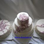 Svatební s fialkovými kvítky-sada