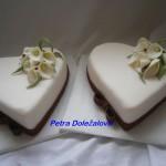 Svatební s bordó stuhou a kalami -do sady