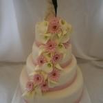 Svatební s kalami a růžovými gerberkami