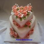 Patrový srdcový a starorůžové růže