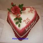 Srdce v bordó s růží