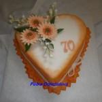 Srdce v oranžové s gerberami