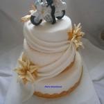 Svatební bílo-zlatý